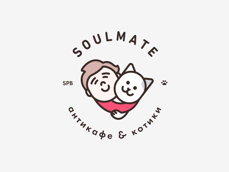 Soulmate friends friendship anti-café kitty cat cats logotype logo