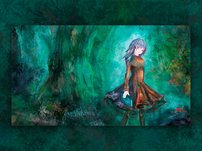 Digital painting painting character girl character illustration art book cover magic fairytale forest anime wacom photoshop cgart cg illustration design