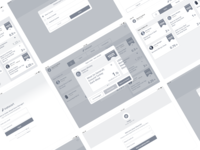 Instacart's wireframes for personal shoppers app