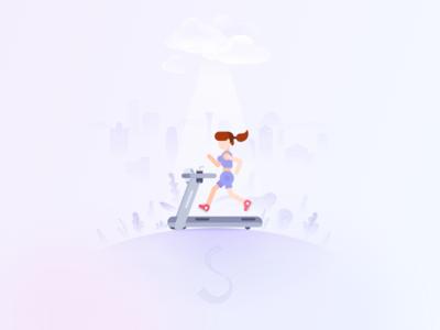 girl is running running