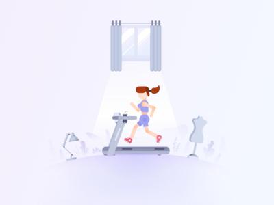 running girl girl running