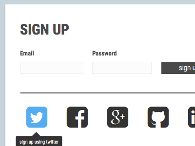 Minimal Signup Page