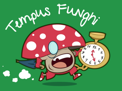Tempus Funghi illustration design character threadless fun tshirt