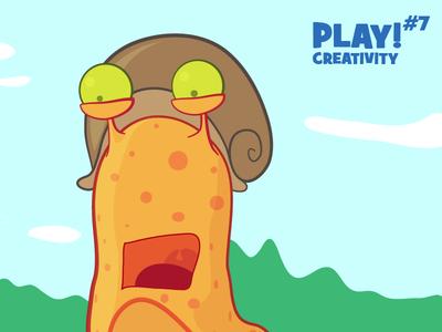 Play Creativity #7 illustration illustrator cartoon comic snail fun character