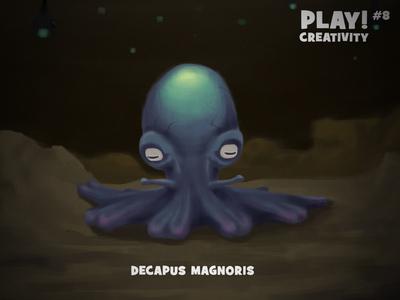 Decapus Magnoris illustration photoshop conceptual creature octopus creativity