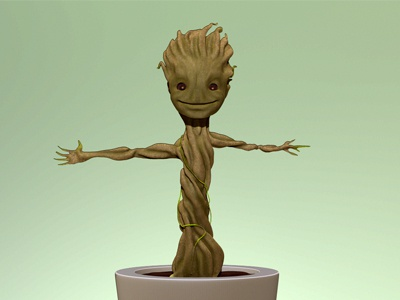 Groot groot zbrush guardians guardiansofthegalaxy cg cgi 3d modelling clay marvel
