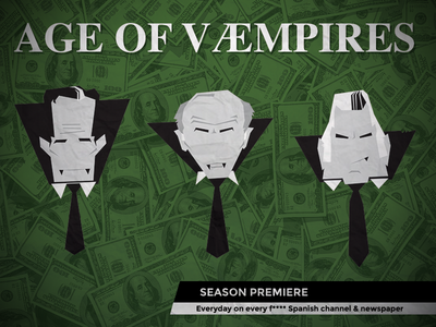 Age of væmpires corruption spain poster protest justice money green