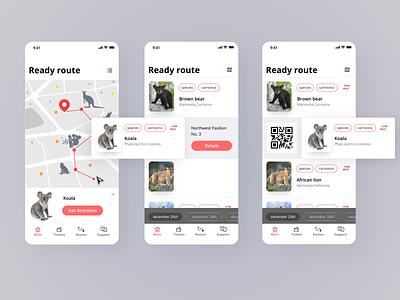route planning ui app zoo ios mobile design mobile app