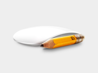 Pencil and mouse analogue to digital from pencil to pixel digital design photoshop mouse pencil pexcil