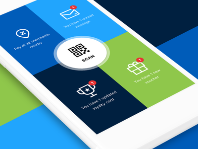 Zapper Home Screen digital loyalty digital rewards mobile payments zapper
