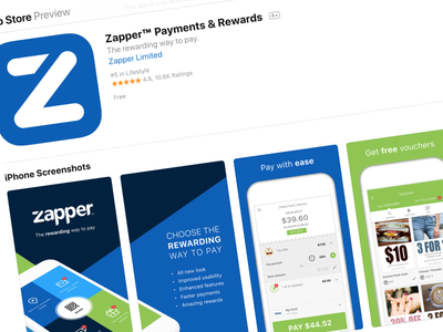 App Store page 10.6k ratings 4.8 stars app store zapper