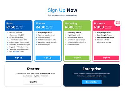 New Price Plans screenshot redesign price plans zapper