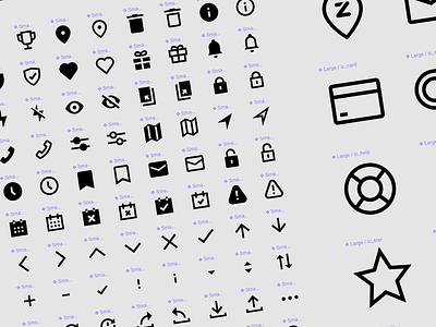 Custom designed icon set figmadesign pixel perfect custom icons zapper