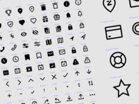 Custom designed icon set