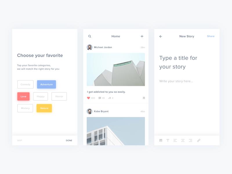 Story App Concept