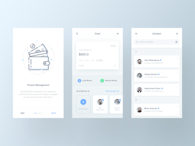 Finance App ux ui finance app finance onboarding ios illustration bank spending app android 2017