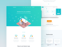 Instacom - Landing Page