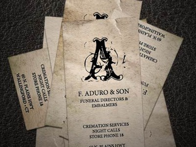 Aduro Funeral Home Business Card Trail Of Terror Web Site Haunted Attraction