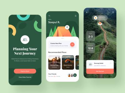Camping App Design