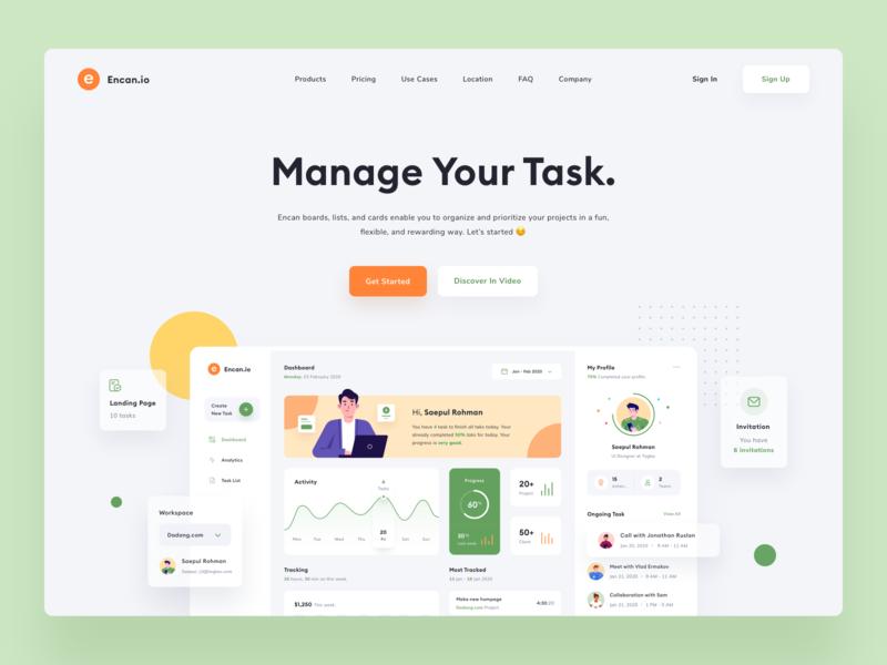 Task Management - Landing Page