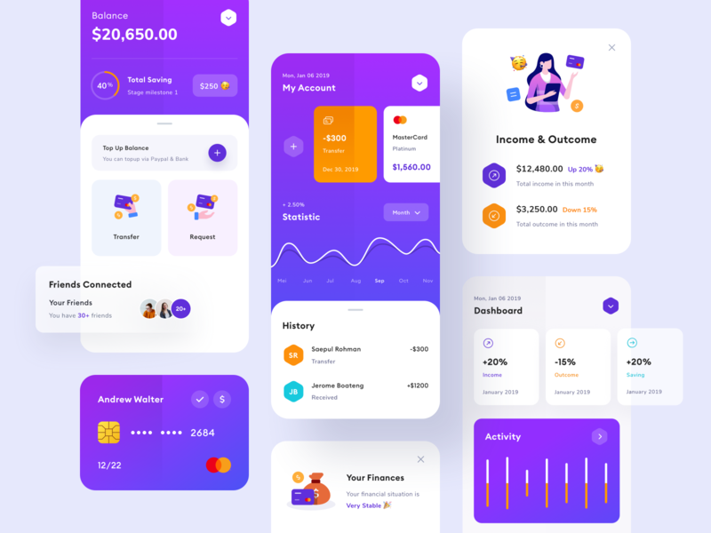 Finance App - UI Design