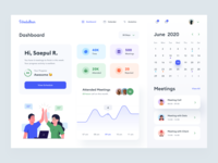 Schedule Dashboard Design v.2 reject meeting people task event webdesign typography schedule project manage illustration product desktop uidesign time date uiux ui dashboard calendar