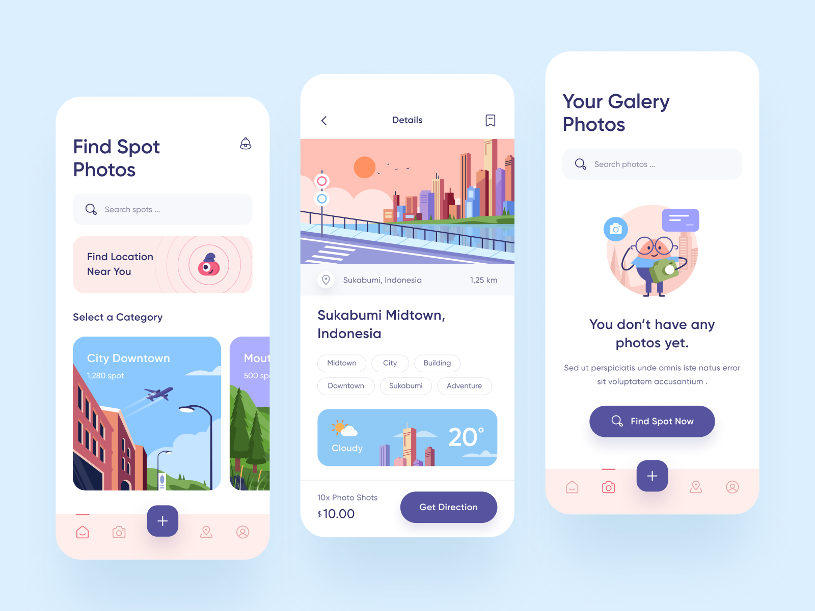 Spothos - Spot Photos App Design 🏞 by Budiarti R. for ...
