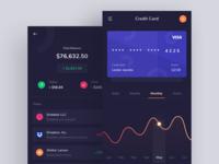 Credit Card App Dark