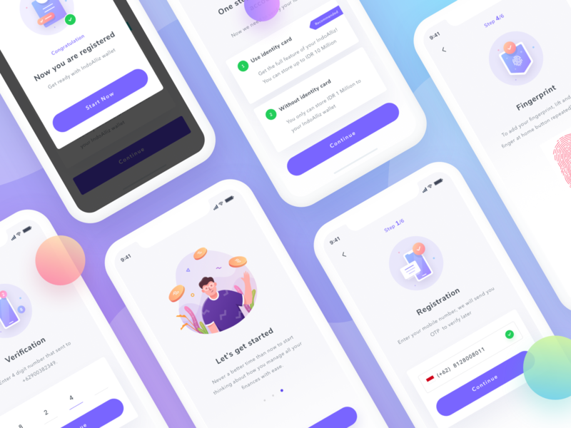 Illustration for Register ux android saepul splash screen 404 icon illustration create an account sign up register ios app