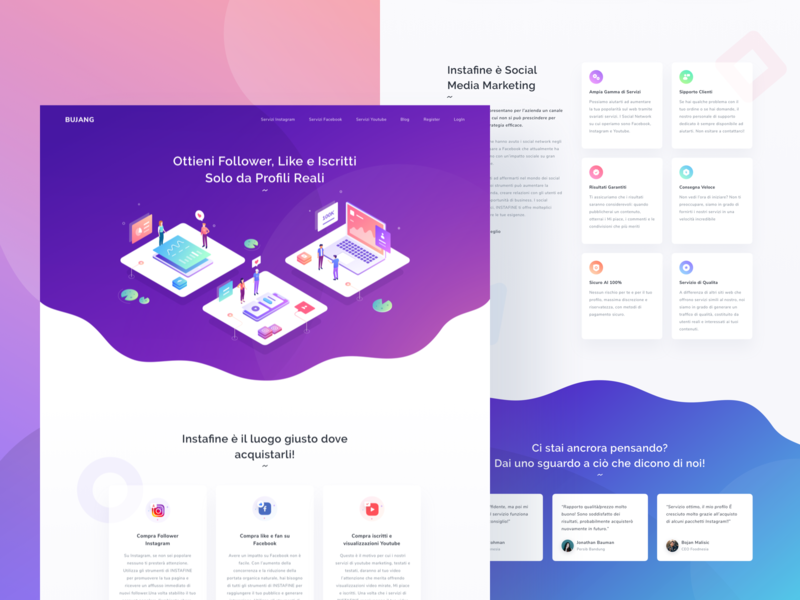 Landing Page icon peoples trend gradient inspiration follower ui landing page isometric illustration
