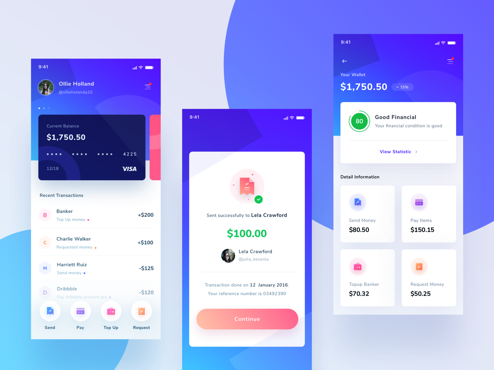 Bank App icon app ios dashboard typography ux graphic design saepul character ui clean illustration