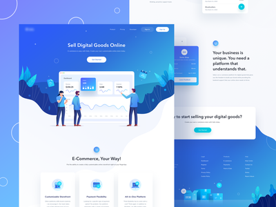 Sales Landing Page chart items buy selling sell branding logo typography card icon dashboard graphic design website gradient ui character illustration