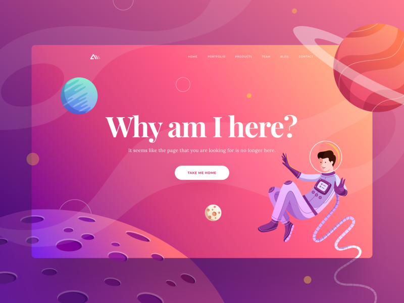 404 page rocket astronaut space planet typography character branding design gradient header ui  ux landing page error page 404 error website 404 illustration