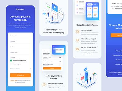 Paymont - Responsive Website responsive website payment form mobile app mobile ui gradient isometric illustration wallet payment responsive mobile