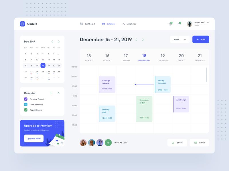 Schedule Dashboard Design dashboard ui ux ui webdesign typography product design website design icon week date schedule illustration project event manage calendar desktop dashboard