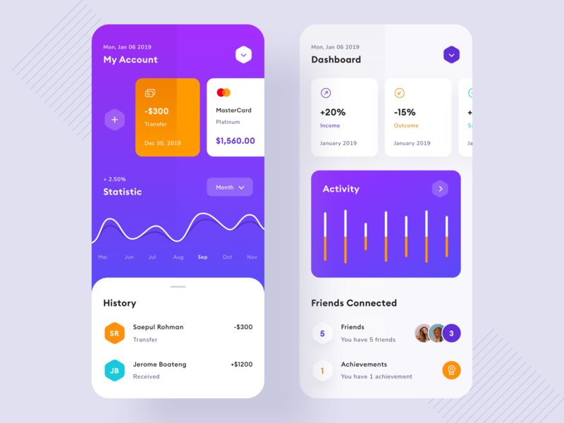 Finance App credit cards dashboard uiux manage transaction gradient icon debit credit card finance payment bank wallets wallet