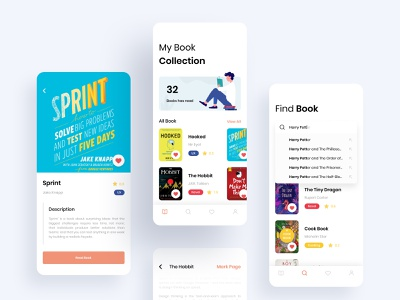 Book App #Exploration reading light search results search bar booking book cover list description books read search book illustration iphone ios clean
