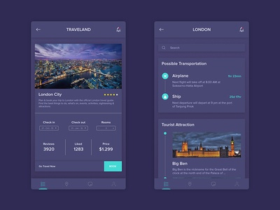 Traveland Dark Theme - Travel App