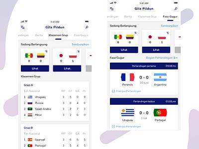 Gila Pildun - Football Apps 2 world cup user interface football soccer clean ux ui x iphone ios