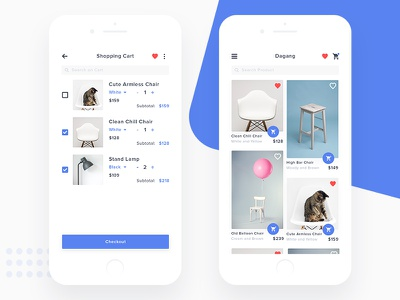 Dagang #Exploration e commerce up mock iphone ios clean cart shopping shop commercial e-commerce