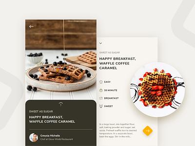 Recipes App waffle recipes recipe iphone food ios app
