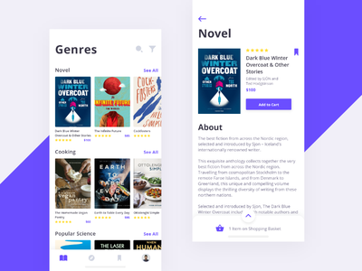 Book Store #Exploration iphone x list typography genres clean book iphone ios