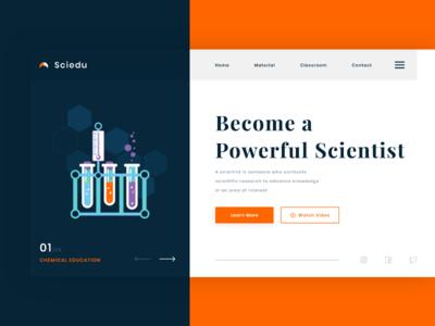 Sciedu - Science Education Landing Page #Exploration