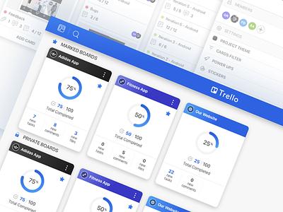 Trello redesign concept flow mobile app concept redesing trello