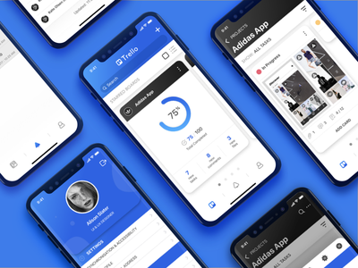 Trello redesign concept on iPhone X ui ux mobile brand redesign trello iphone
