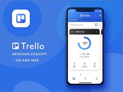 Trello - redesign concept flow mobile app concept redesing trello