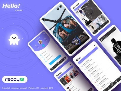 Snapchat Redesign Concept ux ui user interface mobile app concept redesign snapchat