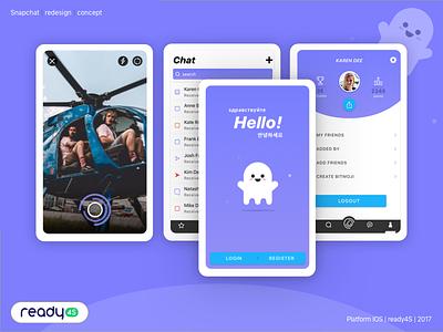 Snapchat Redesign Concept flow mobile app concept redesing trello