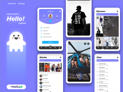 Snapchat Redesign Concept social media mobile app redesing brand snpachat
