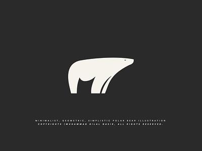 Polar Bear Logo Icon Iconograph illustration geometric logo golden ratio logo minimal design minimalist polar bear polar bear logo design logo design bear icon polar bear logo bear logo